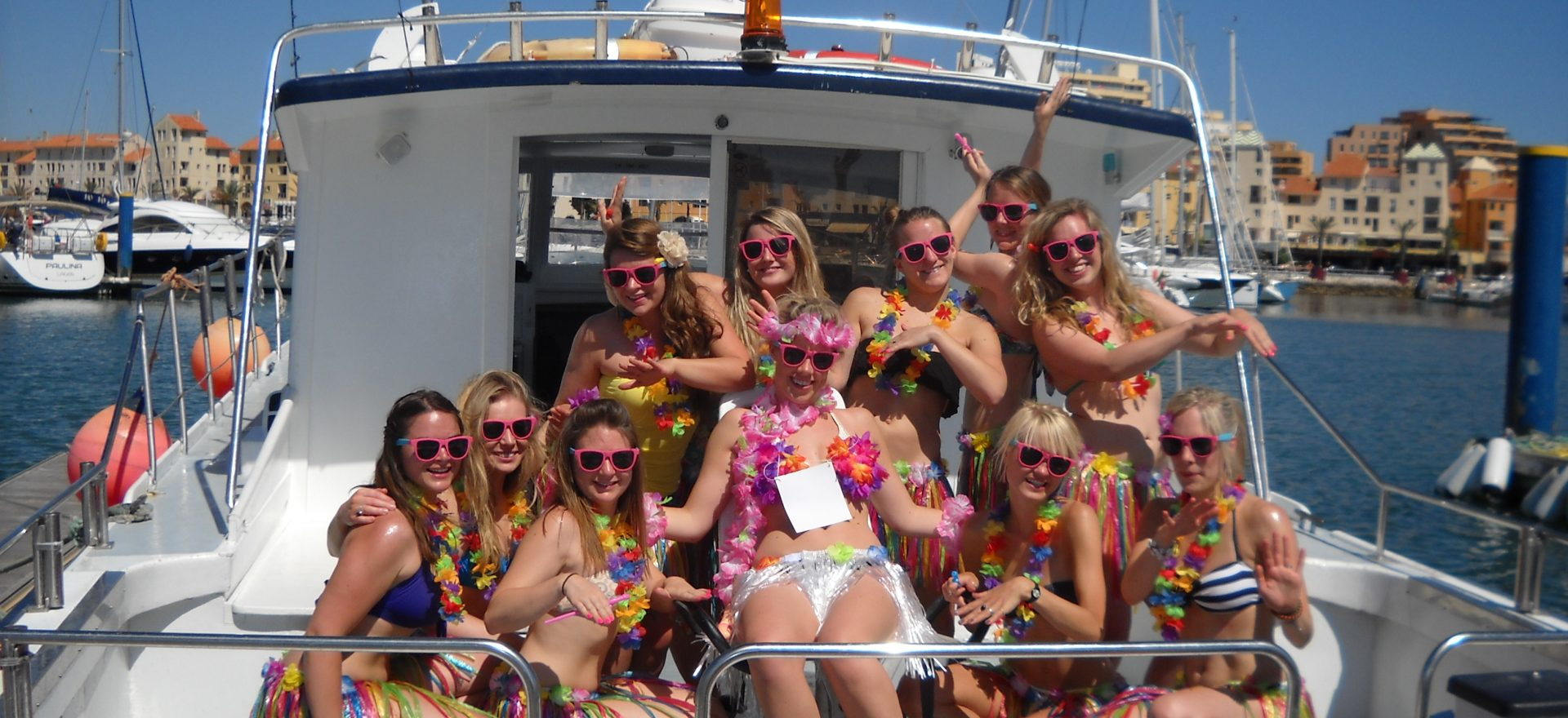 Vilamoura stag hen party boat trip