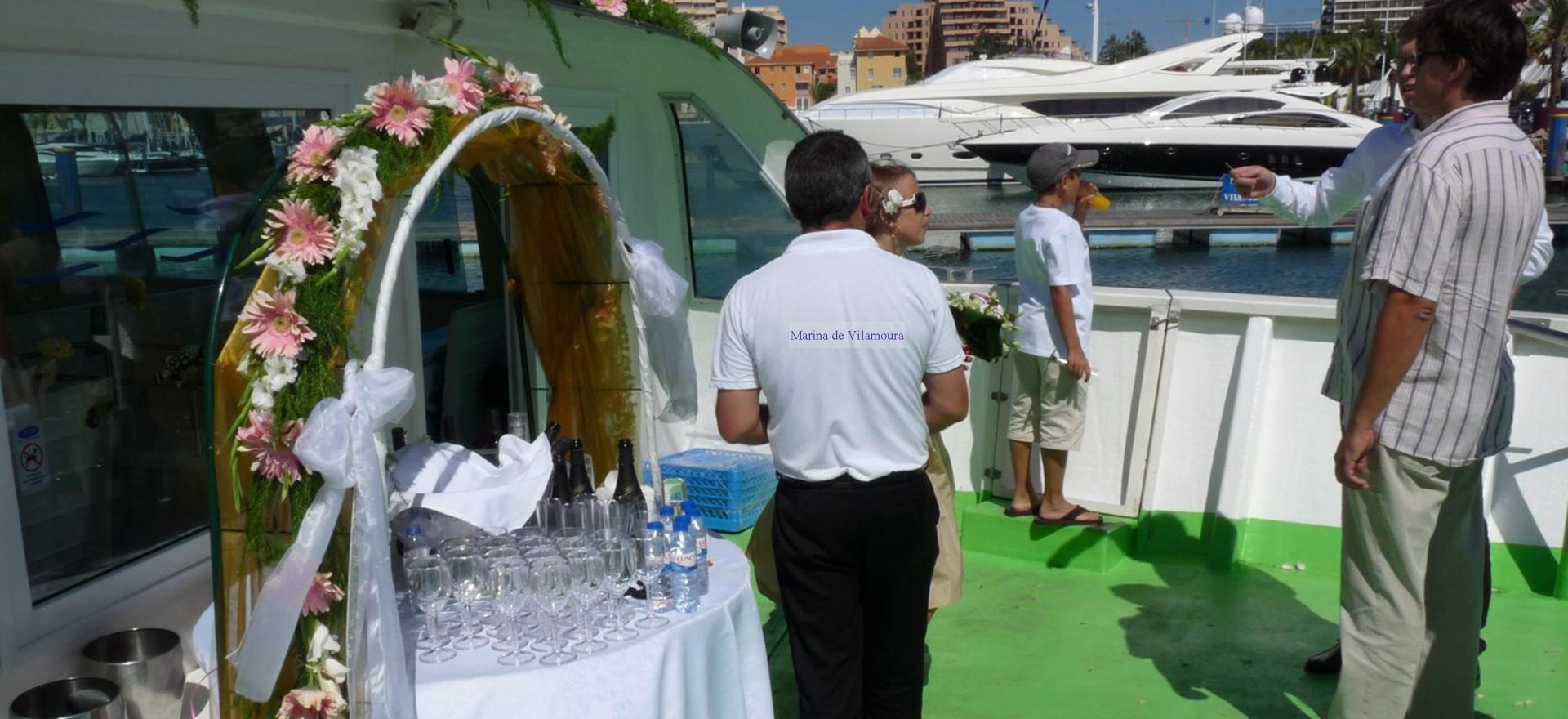 boat trips wedding vilamoura algarve